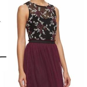 Speechless Floral Embroidered Dress - Medium